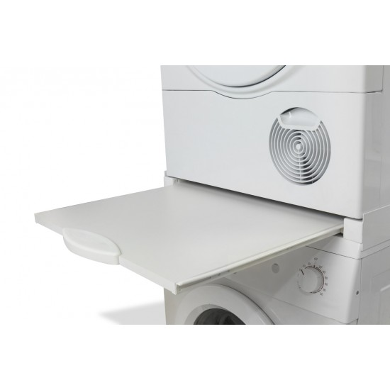 Roller 00694 Washing Machine - Dryer Connection Stand with Wooden Drawer