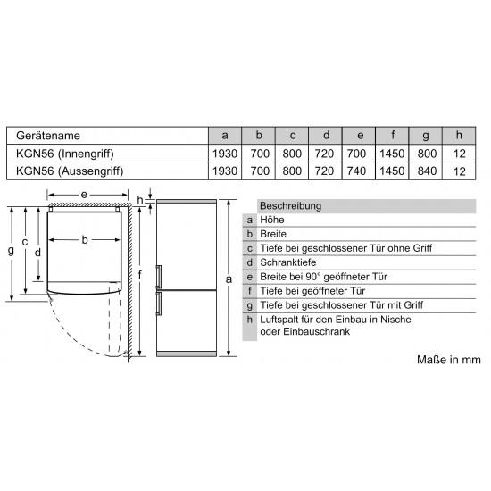 BOSCH KGN56XIDP A+++ NoFrost