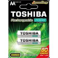 TOSHIBA Rechargeable AA 2000mAh