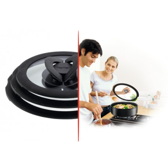 Tefal Ingenio Expertise 16-18-20 Set Glass Lids